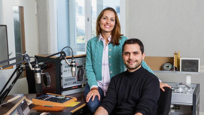 Monica Lindt-Pagani e Davide Gagliardi (© SRF Matthias Willi)