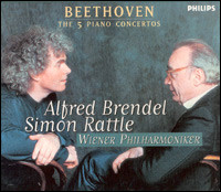 "Beethoven ""The 5 Piano Concertos"". Alfred Brendel, Wiener Philharmoniker, Simon Rattle"