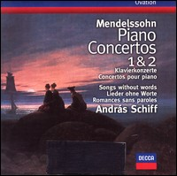 Piano Concertos 1 & 2, Klavierkonzerte, Concertos pour piano, Songs without words, Lieder ohne Worte, Romances sans paroles. András Schiff
