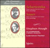 Xaver Scharwenka & Emil von Sauer, Piano Concertos. Stephen Hough, City of Birmingham Symphony Orchestra, Lawrence Foster