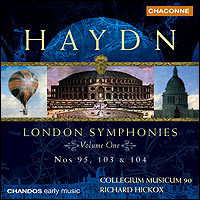 "Joseph Haydn ""London Symphonies Vol. 1 - Nos 95, 103 & 104"""