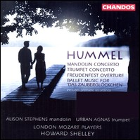 "Hummel ""Mandolin Concerto / Trumpet Concerto..."". Alison Stephens, Urban Agnas, London Mozart Players, Howard Shelley"
