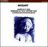 "Wolfgang Amadeus Mozart ""March in D / Serenade No. 7 in D"""