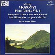 Piano Works, Vol. 4. Hungarian Music, New Year Present, Four Rhapsodies, Appeal, Marches. István Kassai