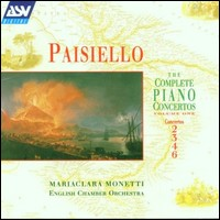 "Paisiello ""The Complete Piano Concertos Vol. 1"""
