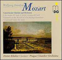 "Wolfgang Amadeus Mozart ""Concertos for Clarinet and Orchestra"""