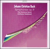Johann Christian Bach, Symphonies op.9. The Hanover Band, Anthony Halstead