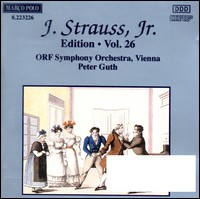 Johann Strauss Jr. Edition Vol. 26. ORF Symphony Orchestra Vienna, Peter Guth