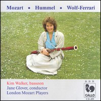 "Mozart, Wolf-Ferrari, Hummel ""Fagottkonzerte"". Kim Walker, London Mozart Players, Jane Glover"