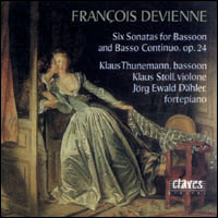 "François Devienne ""Six Sonatas for Bassoon and Basso cont."""