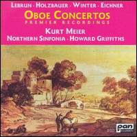 Lebrun, Holzbauer, Winter, Eichner - Oboenkonzerte. Kurt Meier, Northern Sinfonia, Howard Griffiths