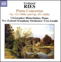 "Ferdinand Ries ""Piano Concertos"". Hinterhuber, New Zealand Symphony Orchestra, Grodd"