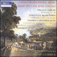 "Angelo Tarchi, Vincenzo Bianciardi, Filippo Gherardeschi ""Italian Instrumental Music From The Late XVIII Century"""