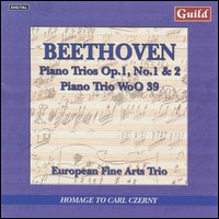 "Beethoven ""Piano Trios Op.1, No.1&2, Piano Trio WoO 39"""