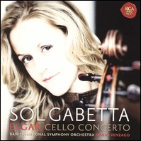 Sol Gabetta. Elgar Cello-Concerto and works by Dvorak, Respighi & Vasks. Danish National Symphony Orchestra, Mario Venzago
