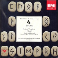 Elgar, Enigma Variations, Grania And Diarmid, Falstaff. City Of Birmingham Symphony Orchestra, Simon Rattle
