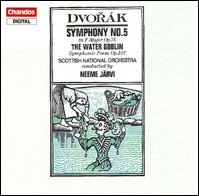 Dvorák, Symphony No. 5, The Water Goblin. Scottish National Chamber Orchestra, Neeme Järvi