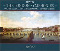 Haydn, The London Symphonies. Orchestra della Svizzera Italiana, Howard Shelley