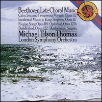Beethoven, Late Choral Music. London Symphony Orchestra, Michael Tilson Thomas