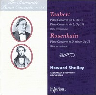 "Taubert and Rosenhain ""Piano Concertos"", Howard Shelley, Tasmanian Symphony Orchestra"