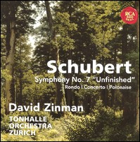 "Schubert, Symphony No. 7 ""Unfinished"", Rondo, Concerto, Polonaise. David Zinman, Tonhalle Orchestra Zurich"