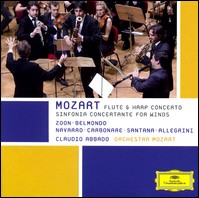 Flute & Harp Concerto, Sinfonia Concertante for Winds. Orchestra Mozart, Claudio Abbado