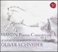 "Haydn ""Piano Concertos in F, G & D"". Oliver Schnyder, Academy of St Martin in the Fields, Andrew Watkinson"