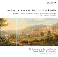 Orchestral Music Of The Schuncke Family. Philharmonie Baden-Baden, Pavel Baleff