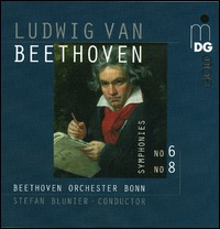Ludwig van Beethoven, Symphonies No. 6 and 8. Beethoven Orchester Bonn, Stefan Blunier