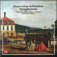 Hoffmeister, Symphonies. Orchestra della Svizzera italiana, Howard Griffiths