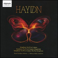 Haydn, Symphonies 52, 53 & 59. Royal Northern Sinfonia, Rebecca Miller