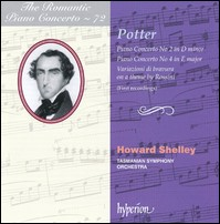 C.Potter, Piano Concertos No.2&4, Variazioni di bravura on a Theme by Rossini. Howard Shelley, Tasmanian Symphony Orchestra