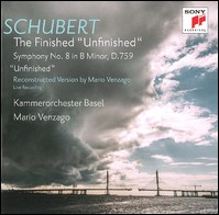 "Schubert, The Finished ""Unfinished"", Symphony No. 8. Kammerorchester Basel, Mario Venzago"