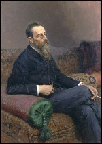 Nikolaj Rimsky-Korsakov - © Portrait of Rimsky-Korsakov by Ilya Repin, Oil on canvas. 125 × 89.5 cm. The State Russian Museum, St. Petersburg.
