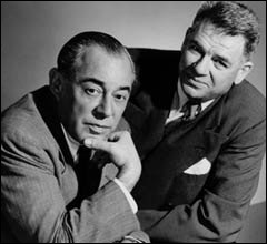 Oscar Hammerstein II - © left: Richard Rodgers - right: Oscar Hammestein (http://c250.columbia.edu/)